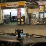 出店終わりのガソリンスタンド!